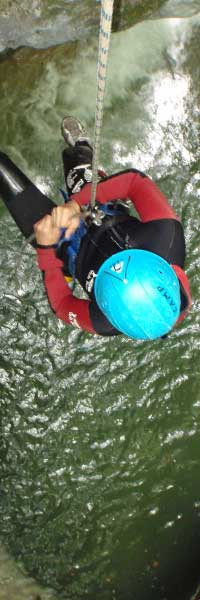canyoning background
